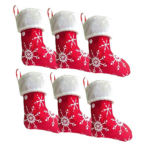 DegGod, Calze di Natale per Animali Domestici, Confezione da 2 Pezzi, Personalizzate, con Zampe di Cane e Gatto Rosso Bianco
