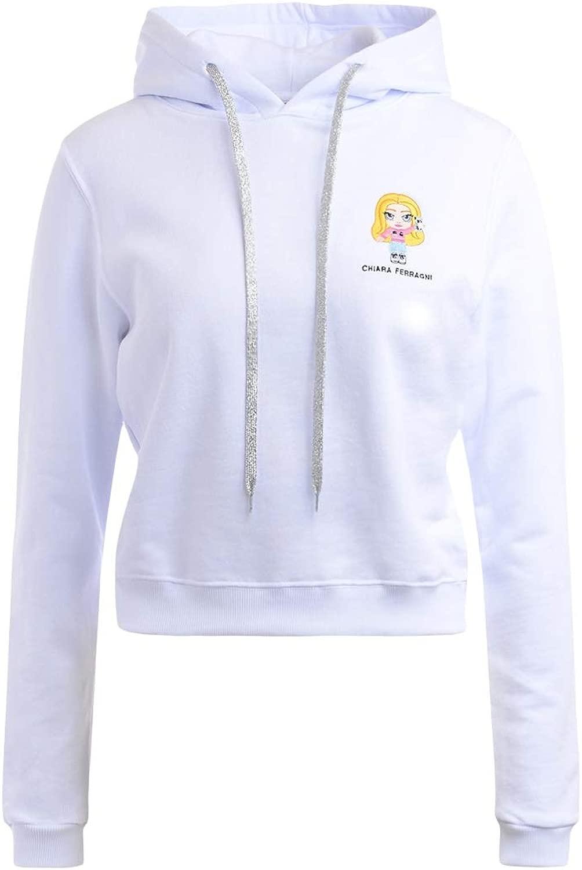 ara Ferragni Sweater in Weißer Baumwolle mit Maskottchen