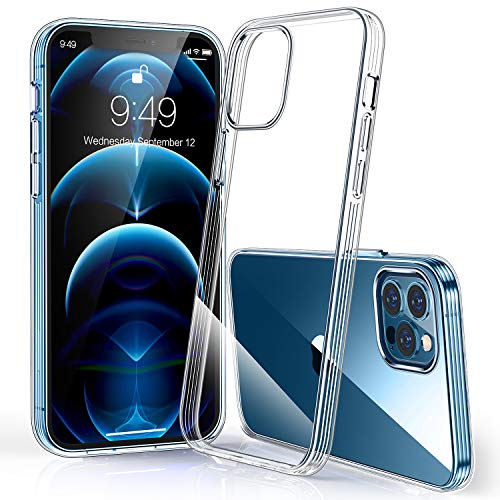 Humixx Compatible with iPhone 12 Pro Max Case Crystal Clear [ Military-Grade Drop Tested ] [ 12X Anti-Yellow ] Shockproof Soft TPU Rubber Cover Clear Case for 12 Pro Max 5G, 6.7 inch