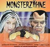 CREOFANT Dientes de monstruo para Halloween, dientes falsos, juguete, disfraz, Halloween (Frankenstein)