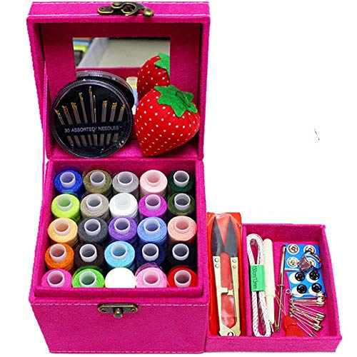 Mini Sewing Kit for Home Travel Emergency, Best Gift for Kids Girls Beginners and Adults, Premium Sewing Set Supplies with Scissors, Thimble, Thread, Needles, Tape Measure and Accessories