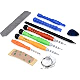 kwmobile Juego de 13 Herramientas para Smartphone - Kit de Herramientas de reparación de Dispositivos Multimedia para Tablet y móvil