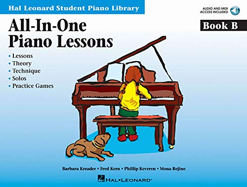 All-In-One Piano Lessons Book B: International Edition (Hal Leonard Student Piano Library)
