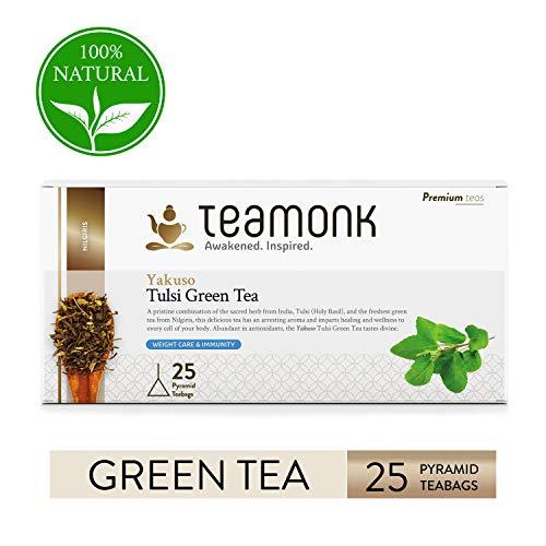 Teamonk Yakuso té verde tulsi - 30 bolsitas té |