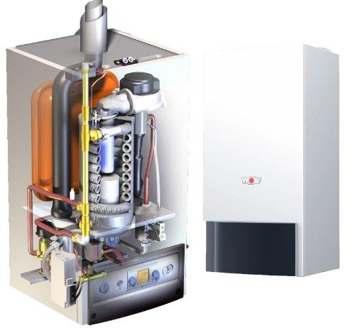 Wolf Brennwerttherme CGB-50 Gastherme Hocheffizienz Pumpe Therme Flüssiggas 50kW