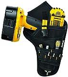 BAIGIO Bolsa de Herramientas con Cinturón de Nailon Ajustable Bolsa para Electricista del Organizador del Sostenedor Bolsillo Porta Herramientas para Cinturón (Amarillo)