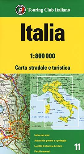 Italia 1:800.000. Carta stradale e turistica
