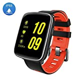 Smart Watch Sport Fitness Tracker - Luxsure IP67 Waterproof Step Counter Activity Tracker Heart Rate & Sleep Monitor Touch Screen Wristband for iOS/Android Smartphones (Fashion Red)