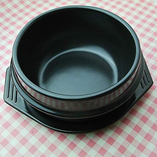 LEILEI Korean Dolsot Stone Bowl with Tray,Ceramic Sizzling H