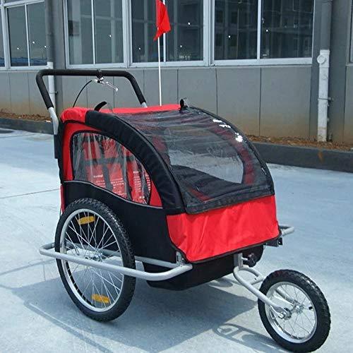 QWERTOUY Aluminium frame kinderwagen met 20inch wiel, vouwfiets trailer, kinderen jogger kinderwagen, Bike Tandem fiets trailer
