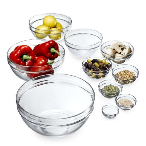 Luminarc 10-Piece Set Stackable Bowl Set
