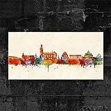 Kunstbruder Paderborn Skyline - Farbe (div. Grössen) 3D