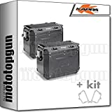 kappa maletas laterales kfr48bpack2 k?force 48 lt + portamaletas laterales monokey cam side compatible con bmw r 1200 gs...