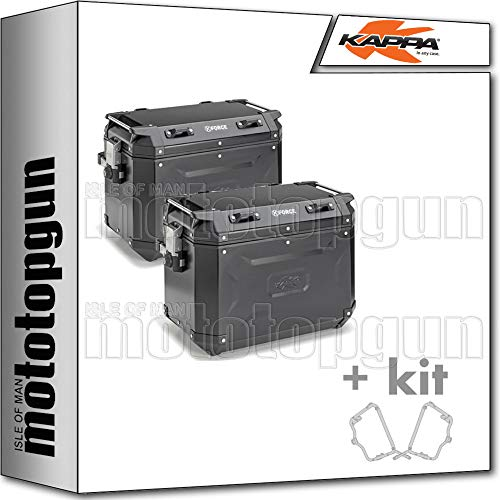 kappa maletas laterales kfr48bpack2 k?force 48 lt + portamaletas laterales monokey cam side compatible con triumph tiger 800 xc/xr 2019 19