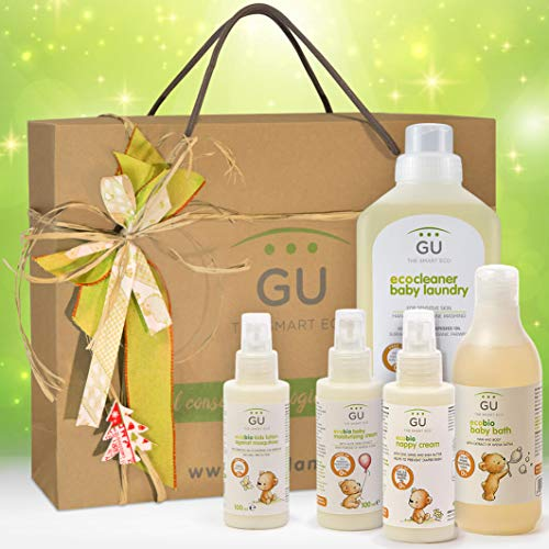 Imagen para Canastilla ecológica Higiene Infantil -Pieles sensibles - Regalo para bebé - ¡Sin químicos ni tóxicos!