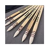 Pinceles para acuarela, diseño de ardilla, hechos a mano, 1 pieza, estilo francés, para acuarela, suministros de arte 1 amarillo número 3.