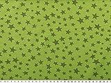 ab 1m: Baumwoll-Jersey, Sterne, maigrün, 150cm breit