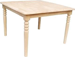 International Concepts Unfinished Square Juvenile Table