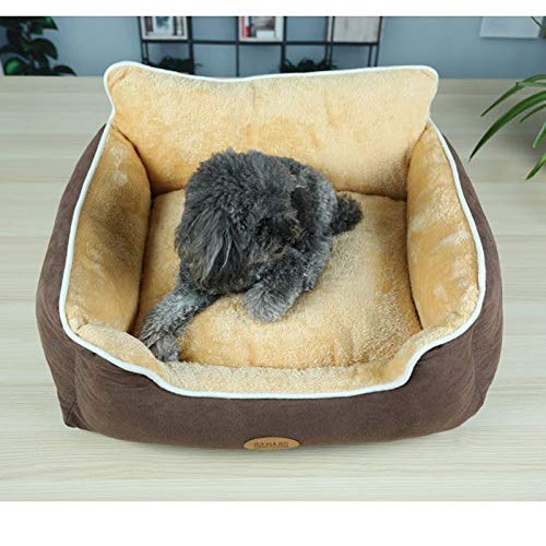GBX Four Seasons Universal Pet Supplies Haustier Nest, New Waschbär, Winter Warm Wildleder, Waschbares Sofa Kennel Lush Pet Bed,rot