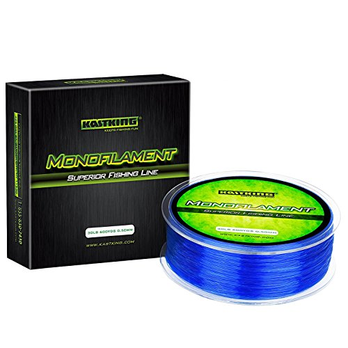 KastKing Premium Monofilament Fishing Line - Superior Mono Nylon Material - Paralleled Roll Track Design – Tournament Grade – Strong, Abrasion Resistant Mono Line for Saltwater (Blue, 600Yds/30LB)