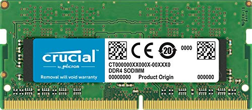 Crucial CT8G4S266M - Memoria Para Mac De 8GB (DDR4, 2666 MT/S, PC4-21300, CL19, Single Rank X8, SODIMM, 260-Pines)