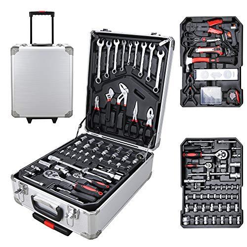 Karpal Werkzeugkoffer bestückt Werkzeug 1031-tlg Teleskophandgriff Profi fahrbar Werkzeugkiste