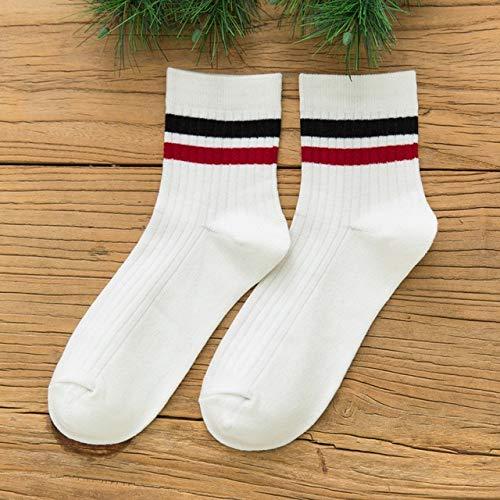 2 Pares de Calcetines de Moda de algodón con Rayas de arcoíris, Calidez clásica, Moda Informal, Divertidos, Lindos, Populares, Calcetines para Mujeres-a18
