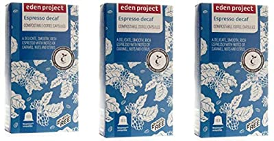 30 Plastic Free Eden Project 100% Home Compostable Nespresso Compatible Capsules (Decaff)