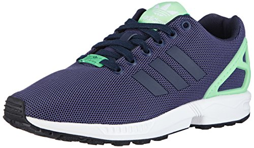 adidas ZX Flux, Damen Sneakers, Blau (Collegiate Navy/Collegiate Navy/Light Flash Green), EU 38