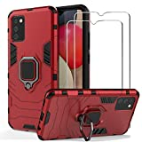 BestShare For Samsung Galaxy A02s Case with Tempered Glass