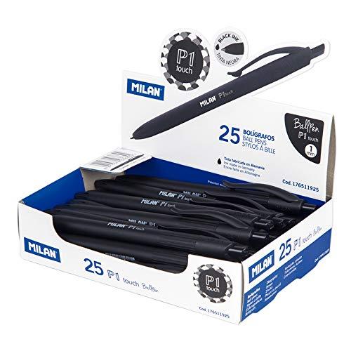 Caja expositora 25 bolígrafos P1 touch negro