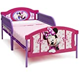 Delta Children Plastic 3D-Footboard Twin Bed, Disney Minnie Mouse