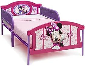 Delta Children Plastic 3D-Footboard Twin Bed, Disney Minnie Mouse