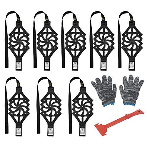 8 Stück Autoreifen SchneeKette Winter TPU-Ketten für Räder Fahrbahn Sicherheits Reifen-Schnee Einstellbare Anti-Rutsch Double Snap Skid