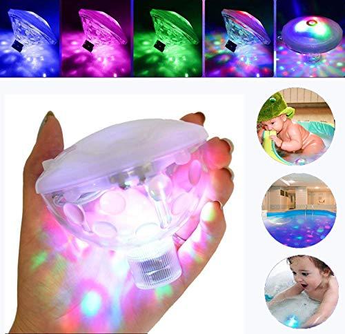 DIVAND Éclairage de la Piscine LED lumière sous-Marine, lumières flottantes Baignoire lumière avec 7 lumière différente Montre Source de lumière Puissance 0,5 (W) Baby Shower lumière imperméable
