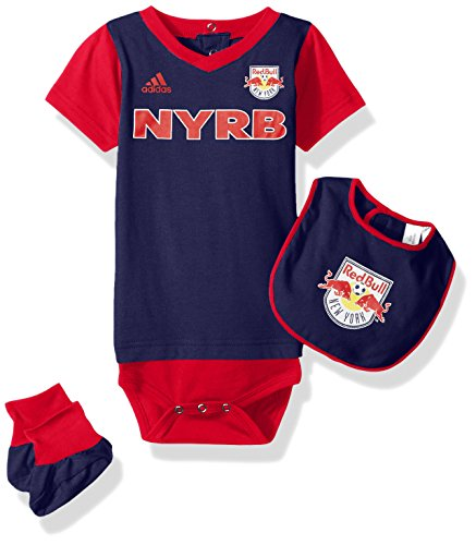 MLS New York Red Bulls Boys Creeper, Bib & Booty Set, New Navy, 18 Months