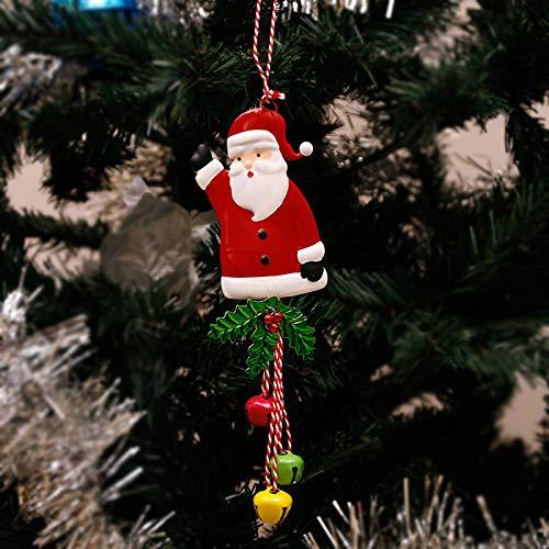 BOSSTER Kerstman opknoping ornament ijzer opknoping bel hanger met touw voor kerstboom vitrine venster bureaublad decoratie