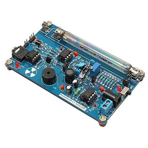 Gecheer Zusammengebauter DIY Modul Geigerzähler Detektor Kit GM Tube