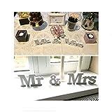 knowing Mr & Mrs Holz Buchstaben Holz Wörter Hochzeit Dekoration fur Hochzeitsfeier vorbereitungsklasse Dekoration 1Set weiß - 6