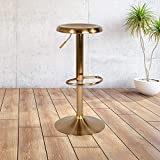 """Flash Furniture Madrid Series Adjustable Height Retro Barstool in Gold Finish , 16""""W x 16""""D x 31""""H"""