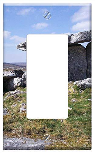 Switch Plate Single Rocker/GFCI - Dolmen Celtic Artifact Menhir Ireland Poulnabrone