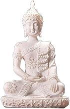 Buddha Statue Sculpture Ornament, Sandstone Figurine, Sitting Meditating Indoor Home Decor Garden Ornament Statue