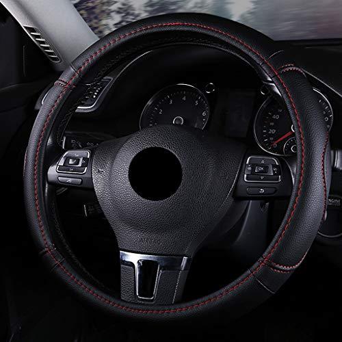 protezione universale antiscivolo per auto 15 pollici linea nera e rossa Coprivolante in pelle 38 cm