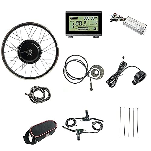 """Schuck 48V1000W Electric Bicycle Conversion Kit 20"""" 24"""" 26"""" 27.5"""" 28"""" 29"""" 700C Front Wheel E-Bike with LCD3 Display (24 inch)"""