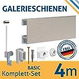 Set di guide per appendere quadri, lunghezza 4 metri ed estensibili, per personalizzare la tua parete, ganci inclusi, argento, 4 m