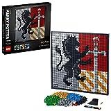 LEGO31201ArtHarryPotter:EscudosdeHogwartsSetdeConstrucciónManualidadesparaAdultosDecoracióndeParedPósterDIY