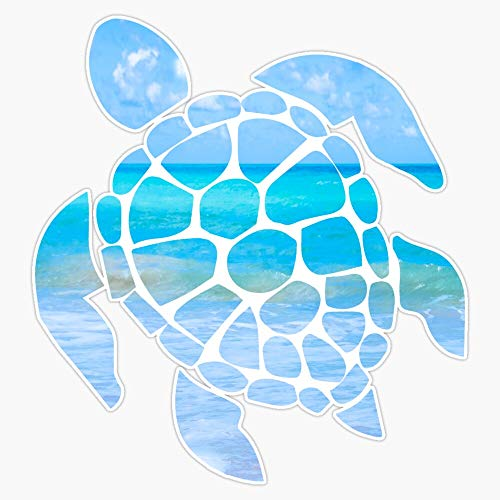 EMC Graphics Sea Turtle Vinyl Waterproof Sticker Decal Car Laptop Wall Window Bumper Sticker 5'