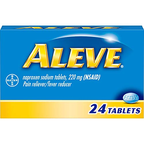 Aleve Pain Reliever/Fever Reducer Caplets 24 ea (Pack of 3)