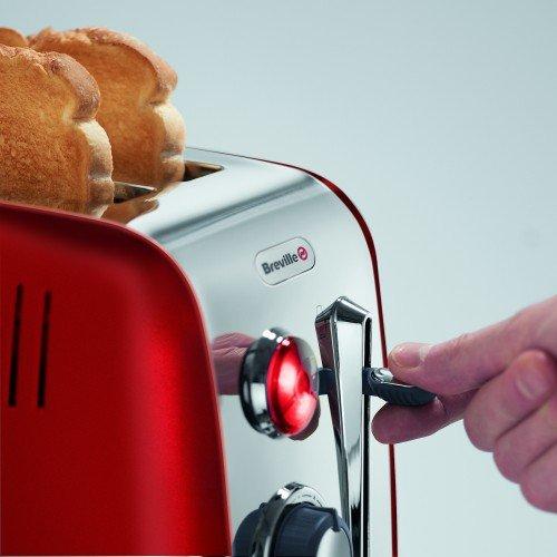 Breville grille-pain, 2 tranches avec Remontée extra-haute, Rouge [VTT536X]