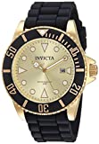 Invicta Men's Pro Diver Stainless Steel Quartz Watch with Silicone Strap, Black, 22 (Model: 90302)